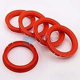5 x Anelli di Centraggio Anello Distanziatore per Cerchi in Allumio Z33 70,0 - 56,6 mm Alluminio Tec Venetico Rial