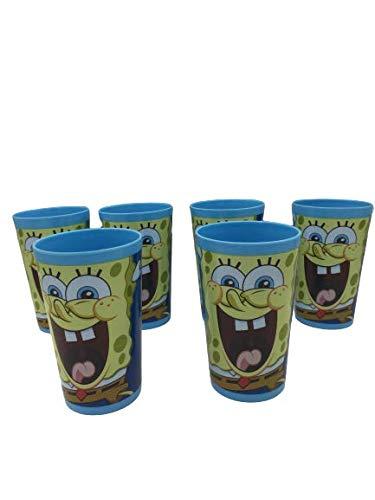 ML Pach de 6 Vasos plásticos para niños y niñas- Vasos Ideal para Fiestas de cumpleaños 225ml