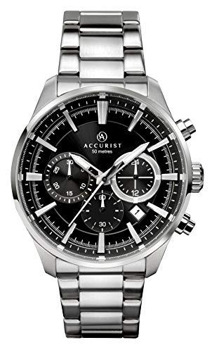Accurist Herren Quarz Uhr mit Edelstahl Armband 7194
