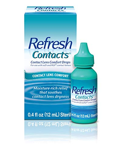 Refresh Contacts, Eye Drops For Dry Eyes, Contact Lens Comfort, 0.4 Fl Oz Sterile