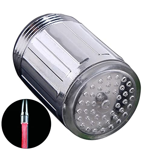 Morninganswer Grifo de Grifo LED de 1 Uds. De Colores, Grifo de Corriente de Agua de un Solo Color/Grifo de Grifo Adecuado para cocinas y baños, Led Rojo