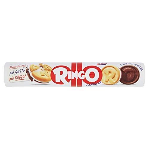 Pavesi Ringo Biscotti Farciti con Crema al Gusto Vaniglia, Snack per Merenda o Pausa Studio, senza Olio di Palma - Formato Tubo, 12 Pezzi da 165 g (1980 g)