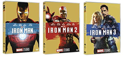 IRON MAN TRILOGIA - IRON MAN 1 + 2 +3 (3 FILM IN DVD) EDIZIONE ITALIANA