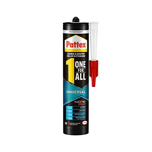 Pattex One for All Universal, Montagekleber & Fugendichtmasse für innen & außen, starker Kleber mit Temperatur-, UV-, Witterungs- & Wasserbeständigkeit, 1x310g Kartusche