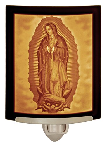 Our Lady of Guadalupe - Mother Mary Curved Porcelain Lithophane Night Light