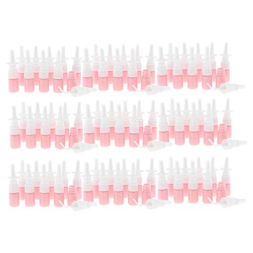 freneci 90pcs 5ml Pulvérisateur Fin Rechargeable Bouteille en Plastique de Pompe Nasale Vide - Rose