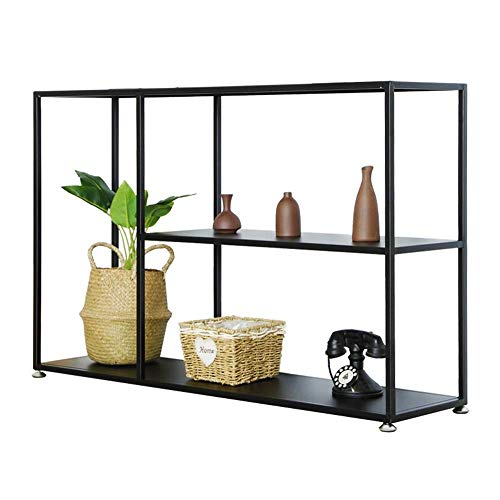 Table Console Table,Iron Art Living Room Decoration Multi-Layer Storage Rack Entrance Cabinet Cut Off Against The Wall Side Table Black 2 Size For Living Room Bedroom Home
