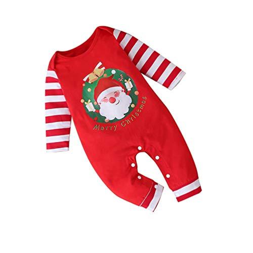 MISS KANG Traje de Navidad para niños pequeños Baby Girls Boys Christmas Romper Mono Jumpsuit de Navidad Bebé Ropa Rojo 100 cm Qingchunw (Color : Red, Size : 100cm)