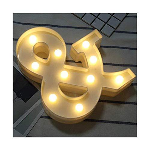 LED Brief Lichter Alphabet Kunststoff Lampe Warm White Buchstaben Lichter Dekoration Weiße Buchstaben Lichter Festzelt Licht, für Party Hochzeit Empfänge Home, Batteriebetrieben, von DUBENS (&)
