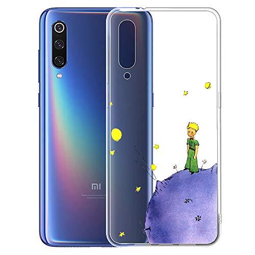 Yoedge Xiaomi Mi 9 SE Hülle, TPU Silikon Transparent Schutzhülle Handyhülle mit The Little Prince Muster Motiv Hülle Superdünn Stoßfest 360 Bumper Weiche Cover für Xiaomi Mi 9 SE - 5,97