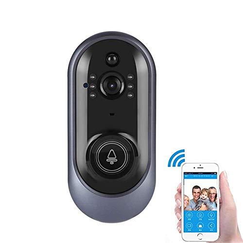 Cámara antirrobo HD con Timbre de Video inalámbrico Gran Angular 720P con IR Cut, detección de Movimiento PIR, Control Remoto en Tiempo Real de la aplicación Talk de iOS para Android y Android