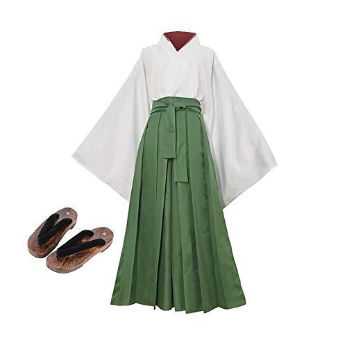 Rcinodhilary Anime Kamisama Love Cosplay Disfraz Momozono Nanami Tomoe japonés Kendo Kimono Traje Largo Traje de Halloween para Mujer
