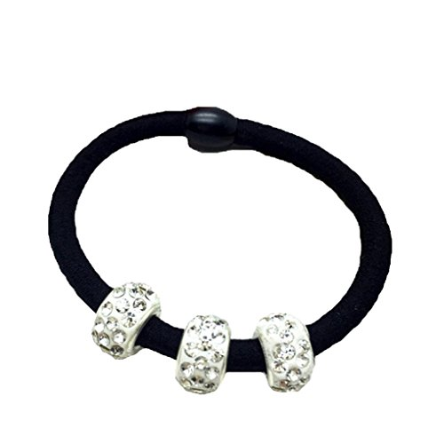 westeng 10teilig Band-Haar elastisch mit Dekoration Künstliche Diamant-Attache-Haar schwarz