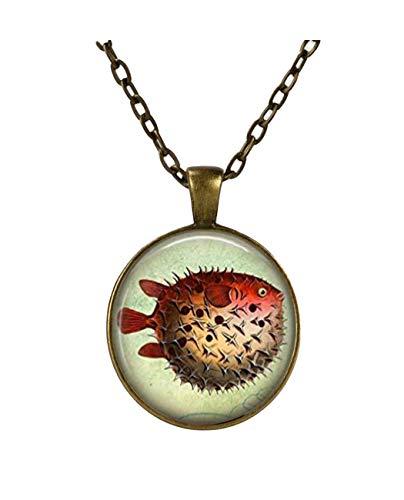 Kugelfisch Halskette Fisch Jewelry Nautical Marine Life Puffer Fisch Ocean Art Anhänger