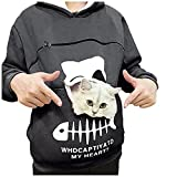 FMYONF Damen Kawaii Kapuzenpullover,Hoodie Sweatshirt mit Katze Tier Beutel Kapuze , Herbst Winter...