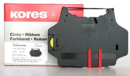 Kores G188CFS - Carbonfilm-Farbband für Schreibmaschinen, Typ C-Film, schwarz, Modell kompatibel mit TA Gabriele 9009