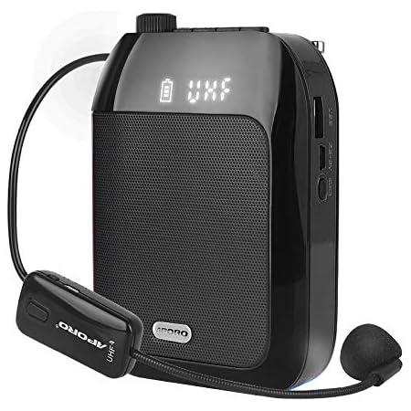 Elikliv Mini Bluetooth Amplificador de Voz, Portátil UHF ...