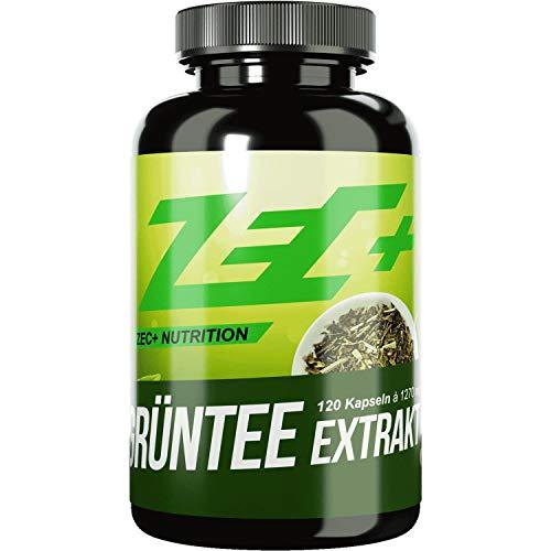 ZEC+ Grüntee Extrakt hochdosiert – 120 Kapseln mit 1000 mg natürlichem Grüner Tee Extrakt pro Kapsel, hoher EGCG-Anteil, reich an Antioxidantien und sekundären Pflanzenstoffen, Made in Germany