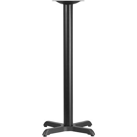 22 x 30 Restaurant Table X-Base with 3 Diameter Bar Height Column