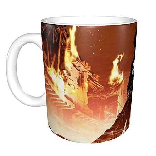 N\A Attack On Titan Anime Mejores Carteles Taza de café de cerámica única y Divertida Taza de té de café de Oficina en casa para Regalo de Festival novedoso
