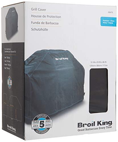 Broil King Grill-/Grillzubehör, Abdeckhaube Premium für Crown/Baron/Monarch 320, edelstahl, 129 x 58 x 117 cm 68470