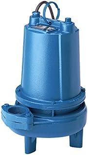 "Barnes 104982 Model 2SEV1022L Sewage Pump, 1 hp, 240V, 1 Phase, 2"" NPT Vertical Flanged, 138 GPM, 53` Head, 20` Cord, Manual, Single Seal"
