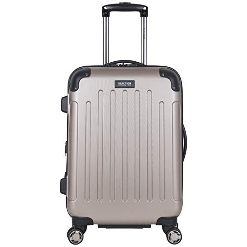 """Kenneth Cole Reaction Renegade 20"""" Carry-On Luggage Lightweight Hardside Expandable 8-Wheel Spinner Travel Cabin Suitcase, Champagne, inch"""