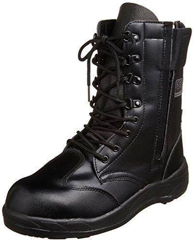 [コーコス信岡] 長編上靴 プロスニーカー JSAA認定 ファスナー付き 吸汗裏布 耐油底 ジプロア メンズ ブラック 25 cm 4E