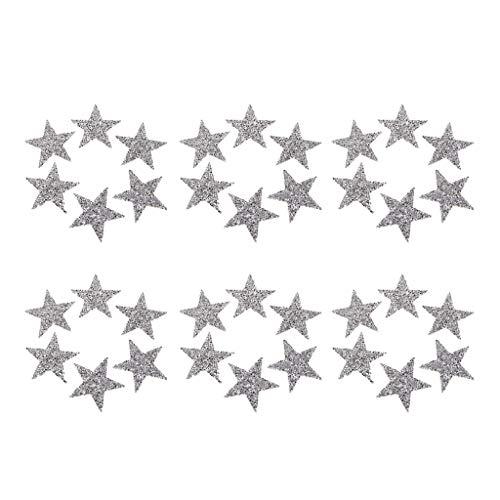 Harilla Parche de Cristal de Hierro en Forma de Estrella de 36 Piezas para Camiseta de Suéter de Mochila de Disfraz