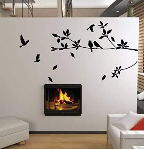 Nonebranded wandtattoo Ebay Hot Flying Bird Branch Vinyl Schnitt Wandaufkleber Schlafzimmer Dekoration Abnehmbare DIY Home Decal Tier Wandkunst Kunst 100 * 57cm