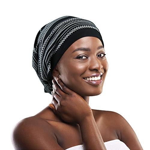 FocusCare Verstellbare Schlafkappe, verstellbar, elastisch, anschmiegsam, lockiges Haar, Hellgrau