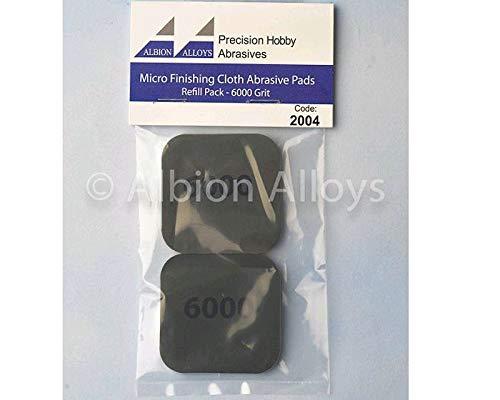 Albion Alloys - Almohadillas abrasivas para microacabados, Grano 6000# 2004