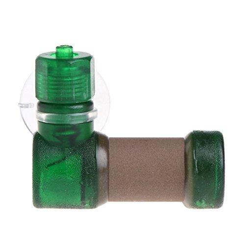 LANDUM Acuario CO2 Difusor atomizador Sistema de disolución de dióxido de Carbono para pecera Tank Plant, plástico, Verde, L: 4.5x4x1.7cm(1.77x1.57x0.67in)