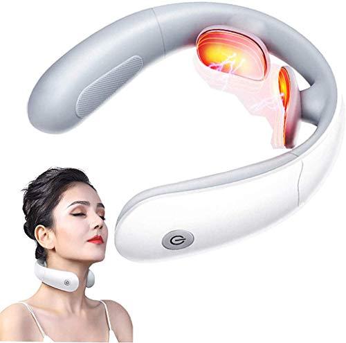 Intelligentes Nackenmassagegerät mit Wärme, tragbares Schulter-Rückenmassagegerät, 8 Modi, 18 Stufen, APP-Bluetooth-Steuerung, lindert Muskelschmerzen und Stress für das Home-Office-Auto