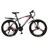 N&I Beach Snow Bicycle Adult 26 inch Mountain Bike Double Disc Brake City Road Bicycle Trail High-Carbon Steel Snow Bikes Wo Variable Speed Mountain Bicycles B 21 Speed a 21 Speed