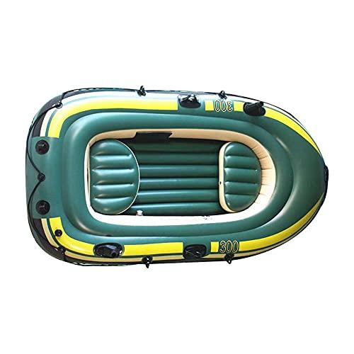 Michellda Kayak hinchable para 3 personas, PVC, canoa hinchable con inflado rápido y válvula de aire para exterior, conducción, pesca, viajes, actividades de padres y niños
