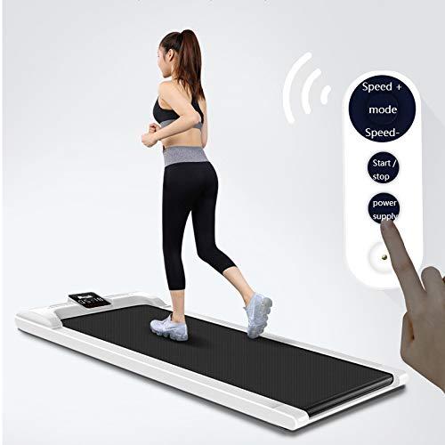 Elektrische Flat Walking Machine, loopband Portable Adjustable Speed LCD-scherm Makkelijk te verplaatsen Folding rollator voor kantoor en thuis