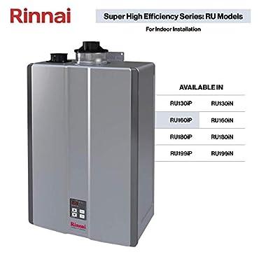 Rinnai RU160iP Sensei SE 9 GPM 160000 BTU 120 Volt Propane Tankless Hot Water Heater: Indoor Installation