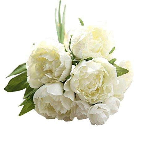 Vovotrade - Bouquet di peonie artificiali, per casa, fai da te, giardino, ufficio, matrimonio, decorazione (A)