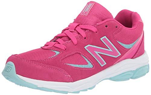 New Balance Girls' 888v2 Running Shoe, EXHUBERANT Pink/Bali Blue, 6.5 M US Big Kid