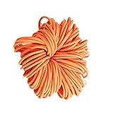 Juego de 100 unidades de 3 cm para coleta de niña, Naranja, Diameter: 3cm