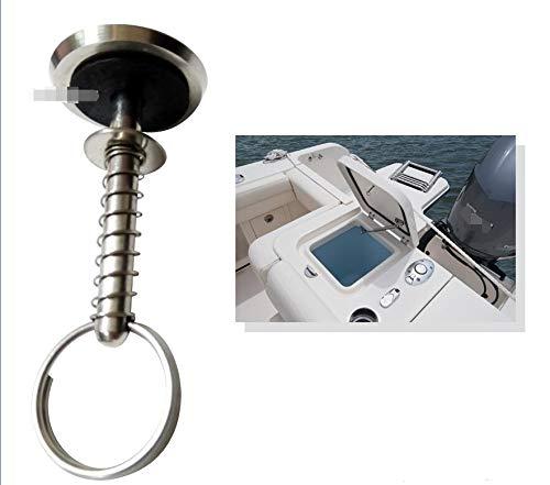 JAP768 1pc Marine-Edelstahl Lukendeckel Zug-Handgriff mit Frühling-versteckten Pin-Knopf for Boots-Yacht Lagerung Angeln