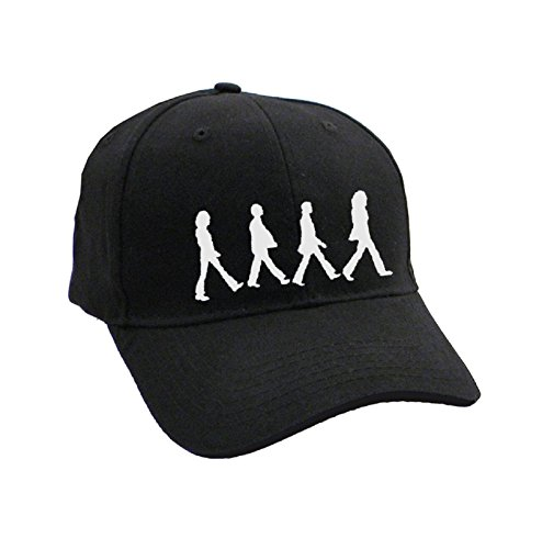 The Beatles Abbey Road Chrome Silhouettes Walking offiziell Schwarz Baseball Cap