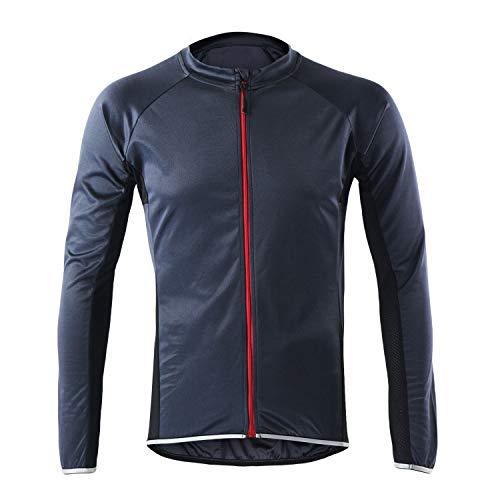 LY4U Herren Radtrikot Langarm Bike Cycle Tops Schnelltrocknende, atmungsaktive MTB Mountainbike Shirt Rennradbekleidung