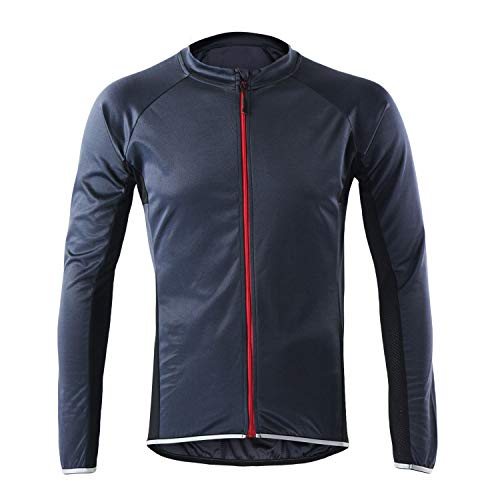 LY4U Men's Cycling Jersey Long Sleeve Biking Cycle Tops Quick Dry Breathable MTB Mountain Bike Shirt Racing Bicycle Clothes