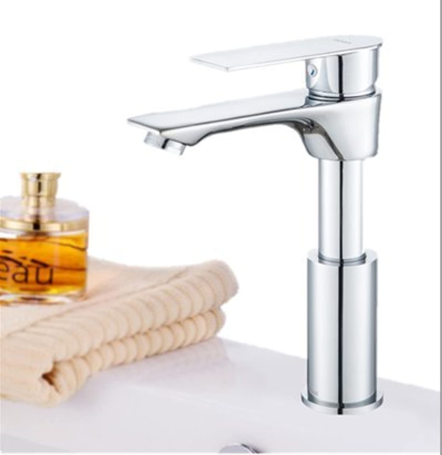 XPYFaucet Faucet Tap Taps Hot and cold basin_Bathroom copper basin lifting and redating, lifting and redating single hole