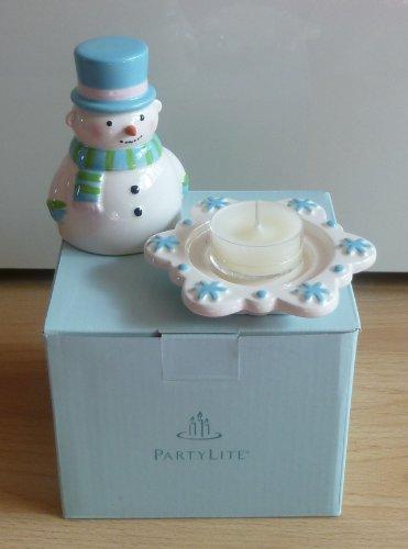 PartyLite - Teelichthalter Geschenkset Schneemann - P96020