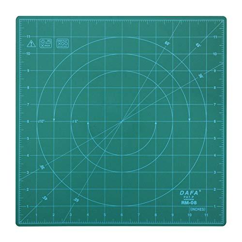 "DAFA Professional Rotating Self Healing Cutting Mat, 12"" x 12"" Grid, for Quilting, Sewing, Arts & Crafts"