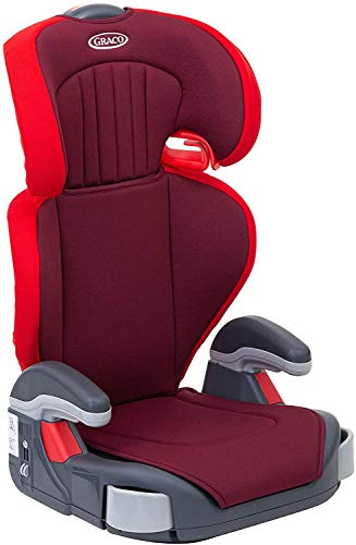Graco Junior Maxi Kindersitz Gruppe 2/3, 15-36 kg, 4 bis 12 Jahre, Kopfstütze und Armlehnen höhenverstellbar, inkl. Getränkehalter, chili