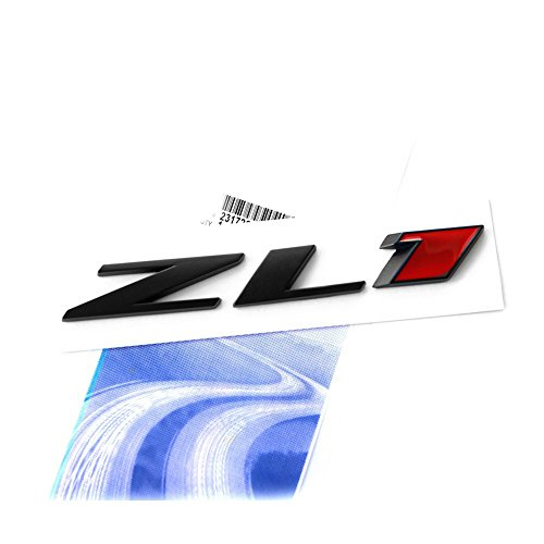 Yoaoo 1x OEM Black Zl1 Emblem Badge Letter Rear Side Zl1 Door Replacement for Camaro Ss Rs Matte Black Red